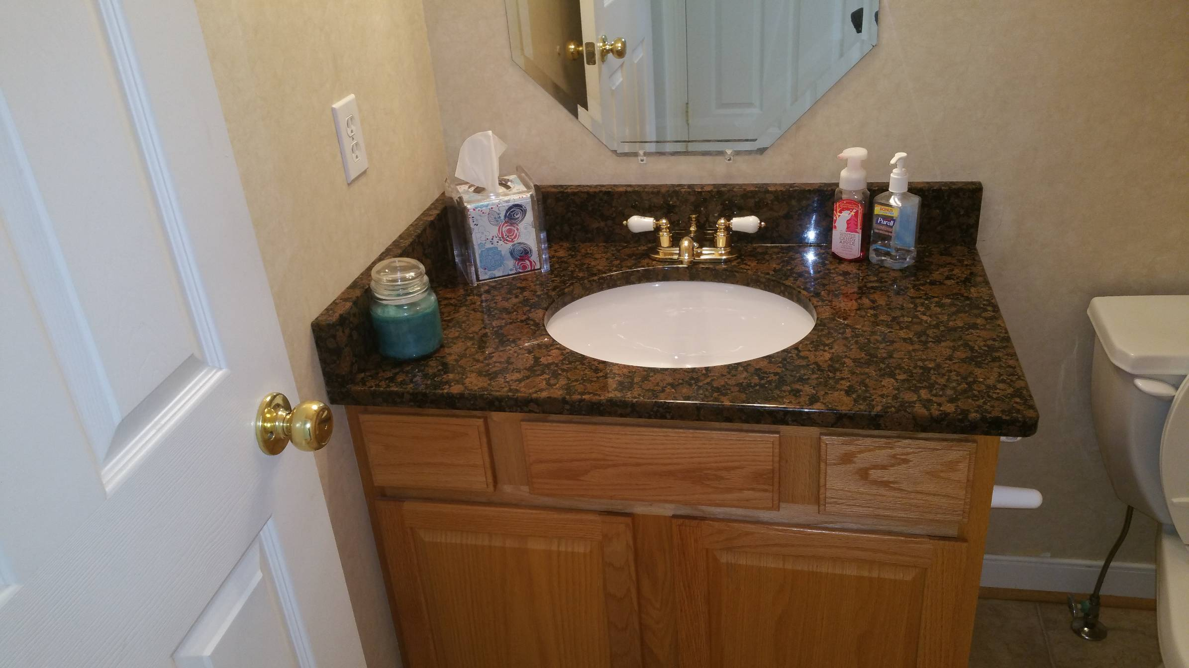 Room Vanity Countertops : Granite power room vanity top cabinets countertops